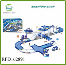 Battery operated toy car railway toy parking lot,kids railway car