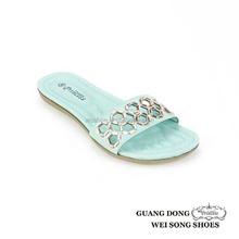 nice summer for girls flat plastic ornament vamp fancy slippers for teenagers