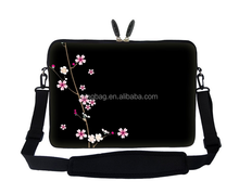 17.3 inch Neoprene Laptop Sleeve Bag Carrying Case with Hidden Handle and Adjustable Shoulder Strap