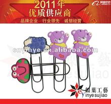 Cute animal shape Soft PVC rubber paper clip bookmarker