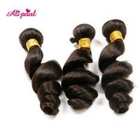 Malaysia human hair 3 bundle deals 7A loose wave unprocessed virgin hair 100% human hair weave free shipping