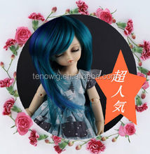 Hot selling two tone fluffy synthetic bjd doll wig