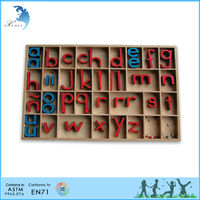 Preschool Montessori Educational Teaching Materials EN71 Language Children Toy Small Movable Alphabet Print -Spanish