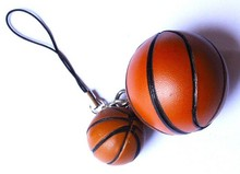 hot sale NBA souvenir basketball shaped 3D keychains