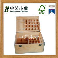 2015 latest design handmade large storage wooden packaging essential oil boxes