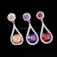dripping big coloured AAA zircon stud earrings jewelry
