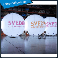 Amazing lighting air balloon inflatable led helium balloon with custom brand printing for advertising
