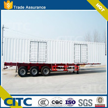 2015 high bed white painted body cargo semi trailer / 3 axles side opening door van type semi trailer for sale