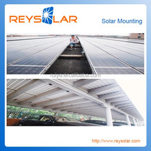Solar Brackets Metal Roof Mounting easy Installation PV solar Aluminum Structure