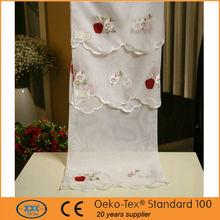 de diseño de apple el patrón de bordado café cortinas de la cocina hecha en china