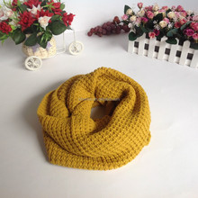 various girls fashion plain color knitted round neck warmer scarf