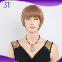 Factory wholesale fashion style belle madame german synthetic hair wig short straight