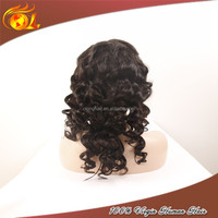14'' 100% Unprocessed Indian Virgin Remy 6A Grade Hair Full Lace Wig With Baby Hair