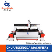 CKD- CNC 5 axis stone cutting water jet cutting machine,glass plastic carving mchine