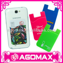 Factory direct sell 3M sticky smart silicone phone pouch
