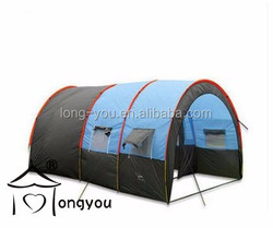 Outdoor products large camping trailer tent two rooms rain proof tent for 8 person