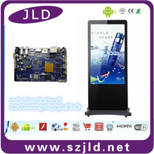JLD new rj45/RTC/ lvds/wifi/bluetooth/3g/gps/quad core digital signage motherboard for classroom display