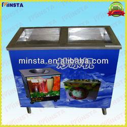 Single Pan Ice Frying Machine and snow frying machine