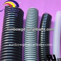 PVC or PU corrugated tube/Corrugated wire loom/Corrugated pipe