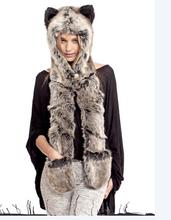 Hot female winter christmas gift animal fur hat MZ-235