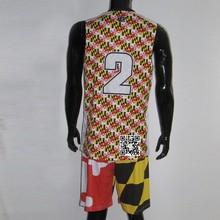 Custom Sublimation Camouflage Reversible Basketball Uniform