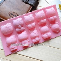 10-piece cartoon mini-kitty shaped silicone cake molds DIY baking and pastry tools