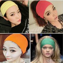 Candy Color Women Yoga Wide Elastic Towel Headband In Stock