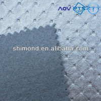 Washable Fabric Embossed Dot Pattern Soft 100% PVC Leather