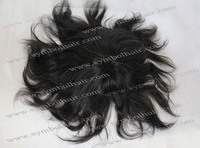7'' 2# mix white 8*9 Indian hair lace + PU toupee