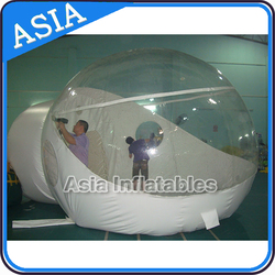 6*4m Outdoor Inflatable Clear Bubble Tent Family Camping Backyard Tent, large clear inflatable lawn dome tent
