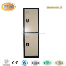 Lightning lock system two door metal locker