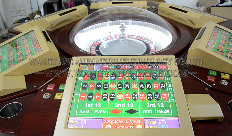 Gambling roulette machines