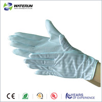 Antistatic safety PVC ESD dotted gloves