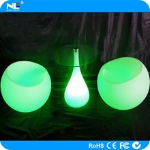 New product modern bright colored RGB LED illuminated light coffee table