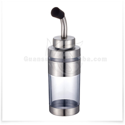 2015 hot sale products Stainless Steel Glass Oil Cruet/glass cruet oil and vinegar