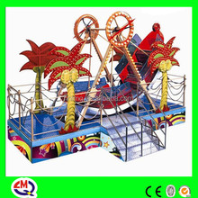 2015 cheap small indoor kids playground equipment pirate ship for sale