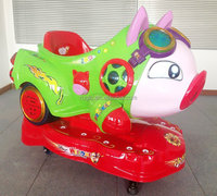 New hot sale coin operated pusher amusement park animal rides machine hobbies toy vehicle ride on car electric kids swing car