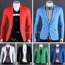 Newest single button mens blazers customized for man slim fit designs blazers in men blazers