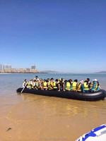"big 26'3"", 8m, 30 people inflatable boat"