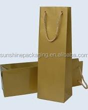 OEM custom logo single wine bottle packaging carrier bag