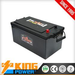 Korea design car batteries DIN200MF12V200AH King Power