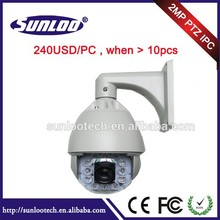 High Speed Dome 2.0megapixel 12pcs Array Leds 30X Optical Zoom IP PTZ Camera Motion Detector