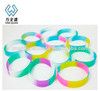 two color assorted color silicone bracelets/customized wristband for sports,silicone bracelet for couple