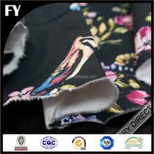 Factory custom digital printed cotton stretch twill fabric