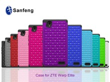 Buy Goods in China Crystal Hybrid Combo Phone Case For ZTE Warp Elite N9518 Mobile Phone Cover Boost Mobile
