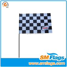 High quality wholesale popular sport ployester soccer referee flag/ flag banner with stick