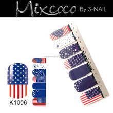 2015 new design self adhesive foil sticker for nail art