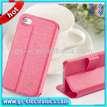 For iPhone 5/5S 5C Silk Folio PU Leather Cases lowest factory price