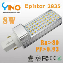 8W G24 LED PL lamp with Epistar 2835 chip