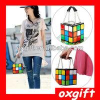 Free Shipping!!OXGIFT Magic cube Lady Leather bag